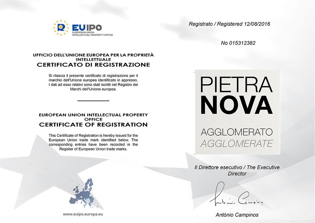 certificato registrazione Pietranova