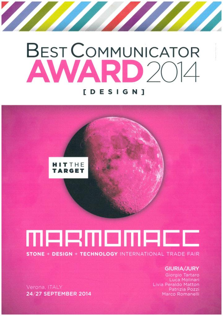 MARMOMACC 2014 – best communicator award 2014
