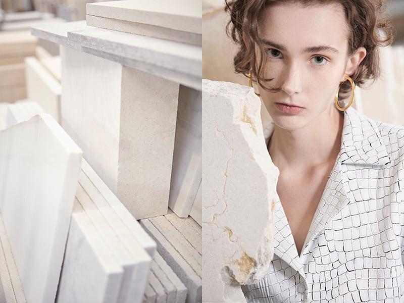Laura Aparicio sceglie Grassi Pietre come cornice per la sua Collezione Moda Primavera/Estate 2018