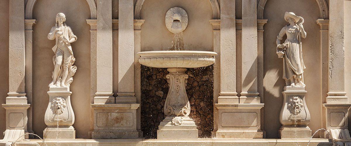 Fontana in pietra