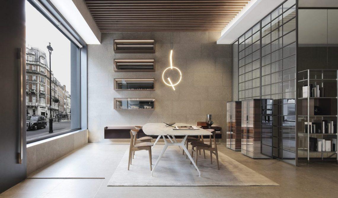 Arredo di design: Rimadesio flagship store a Londra