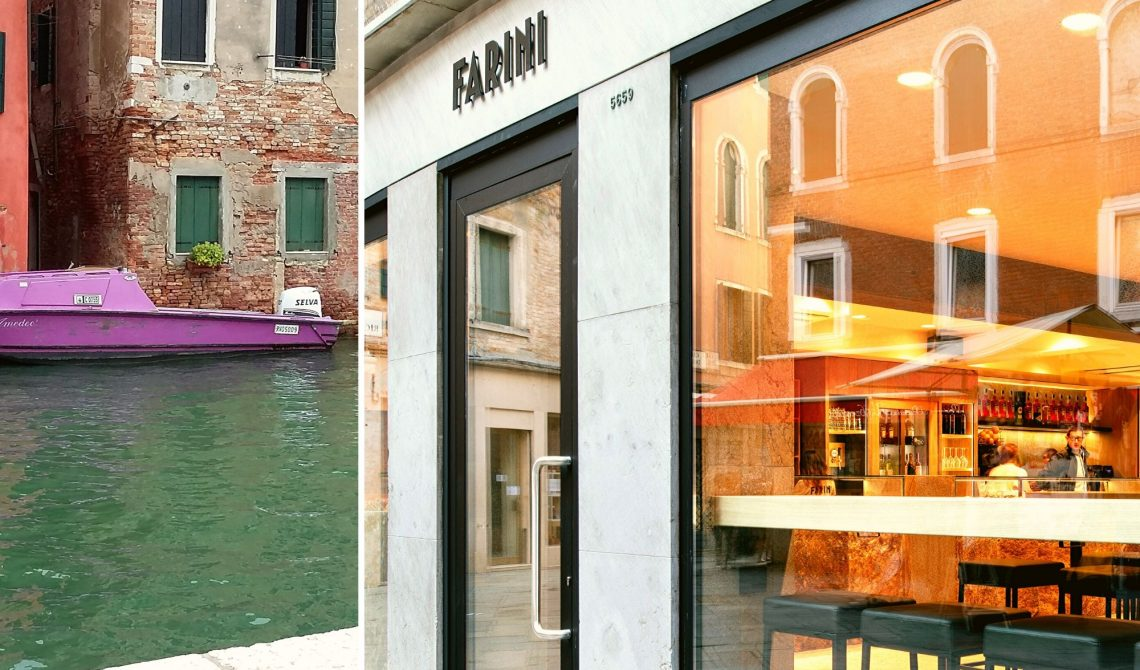 Crostone di pietra per il bancone di Farini bakery Venezia